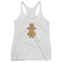 Ginger Cookie Women's Triblend Racerback Tank