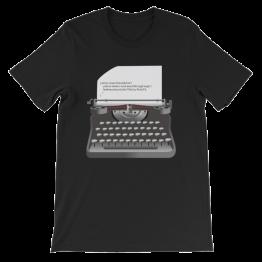 Hello World Java Typewriter Unisex Jersey T-Shirt
