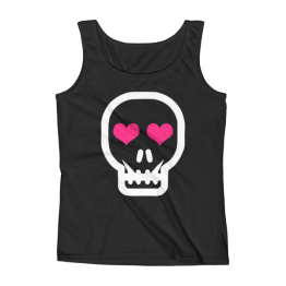 Skull Love Missy Fit Ladies' Tank