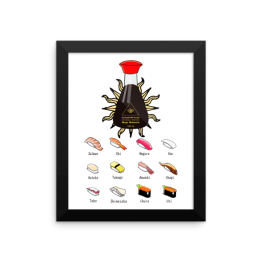 In Sushi We Trust Framed photo paper poster