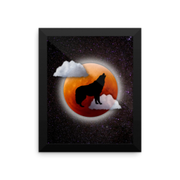 Howling At The Moon Framed photo paper poster