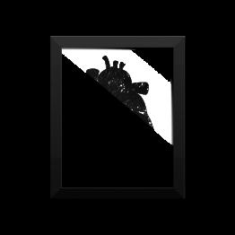 Cat's Heart Framed photo paper poster