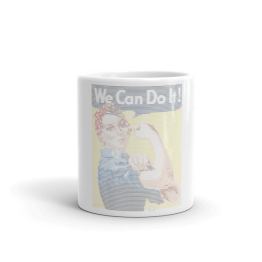 We Can Do It! Feminist ASCII Art Mug